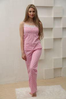 Пижама из тонкого хлопка: брюки и топ FIORITA