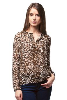 Шифоновая леопардовая блузка Vilatte