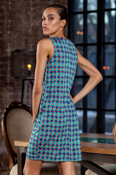 Бирюзовое платье без рукавов RUXARA