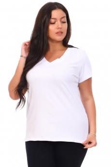 Белая блуза из плотного хлопка Кетлен